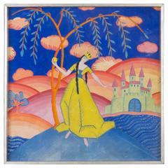 Art Deco Framed Painting