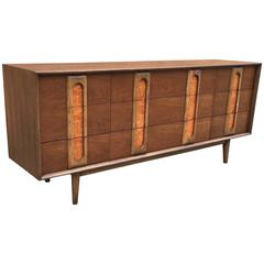 Three-Tone Walnut, Olive and Ashwood Dresser by Altavista Lane