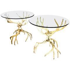 Pair of Arthur Court Antler Side Tables