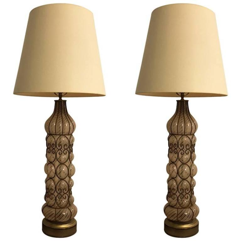 Pair of Italian Mid-Century Table Lamps
