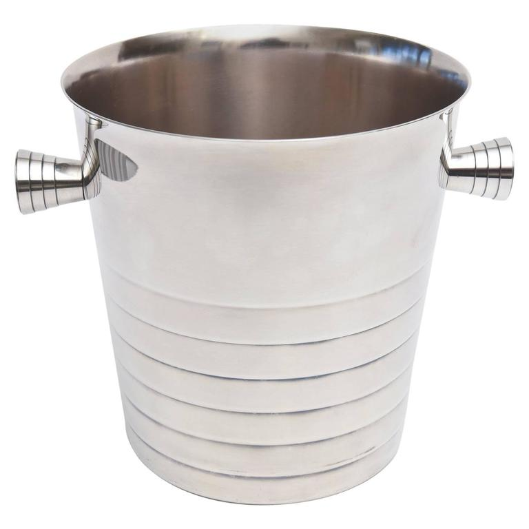Vintage Christofle Silver Plate Champagne / Ice Bucket/ Wine Cooler For Sale