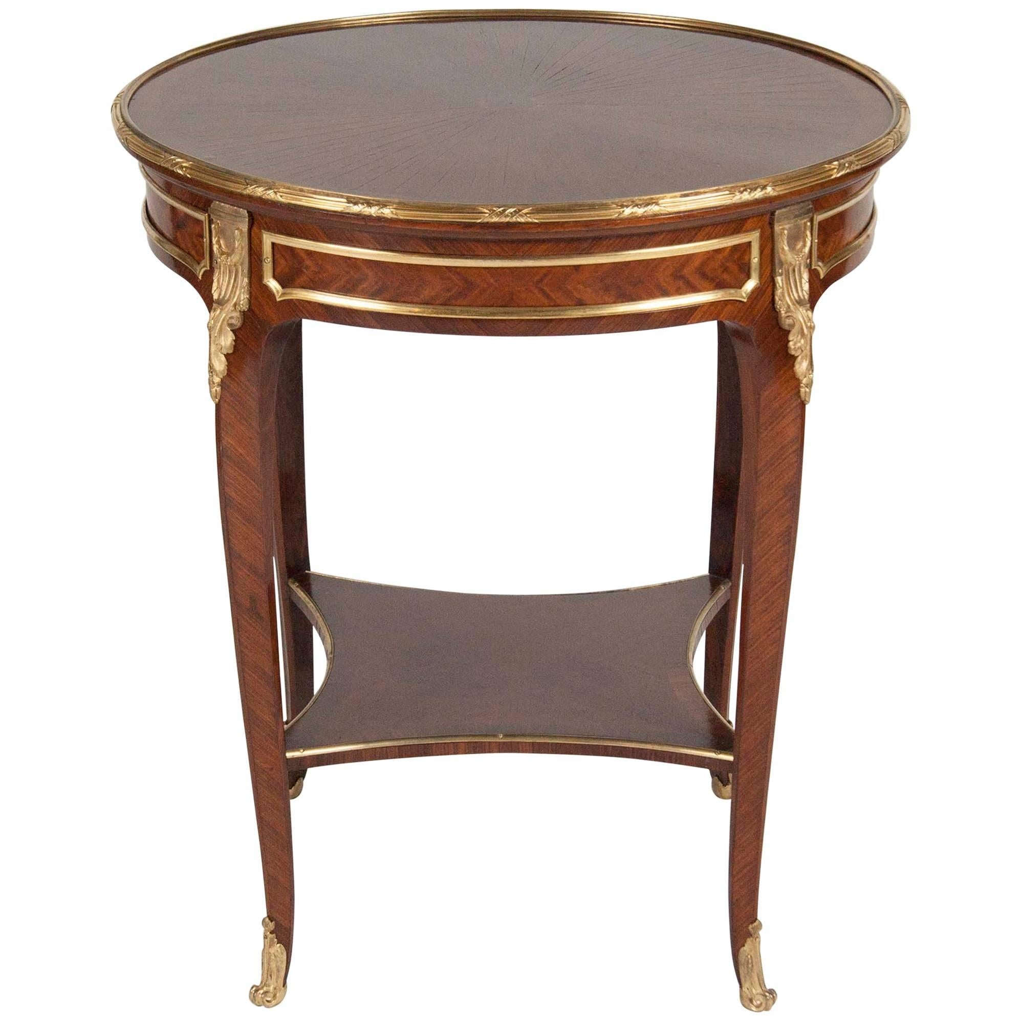 French Bronze Mounted Gueridon Table