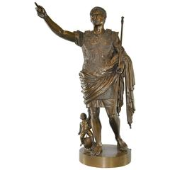 Bronze Sculpture of Ceasar Augustus after Benedetto Boschetti