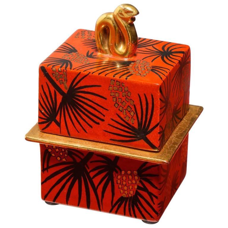 Gio Ponti Lidded Box For Sale