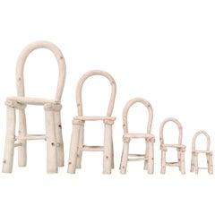 Set of Linda Kramer Ceramic Chairs