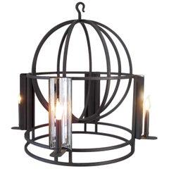 Mirrored Globe Chandelier