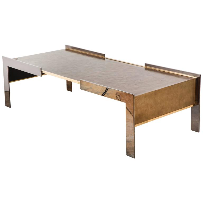 Paul Marra Modern Waterfall Cocktail Table For Sale At 1stdibs