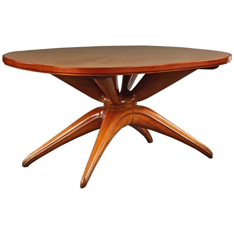 Dramatic Oval Table Attributed to Osvaldo Borsani