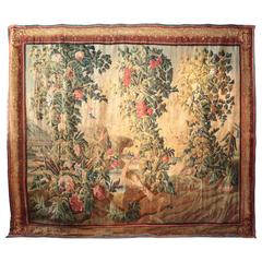 Antique French Aubusson, Signed by F. Picon, circa 1750