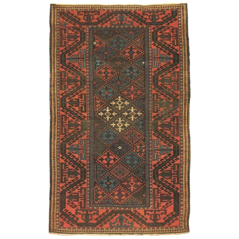 Antique Afghan Baluch Rug, Circa 1880s For Sale At 1stdibs