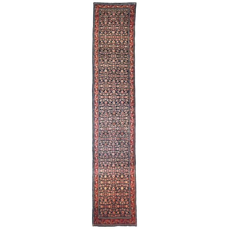 Antique Persian Malayer Rug, circa 1900s For Sale