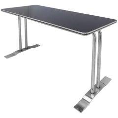 Art Deco Streamline Chrome Writing Table or Console Table