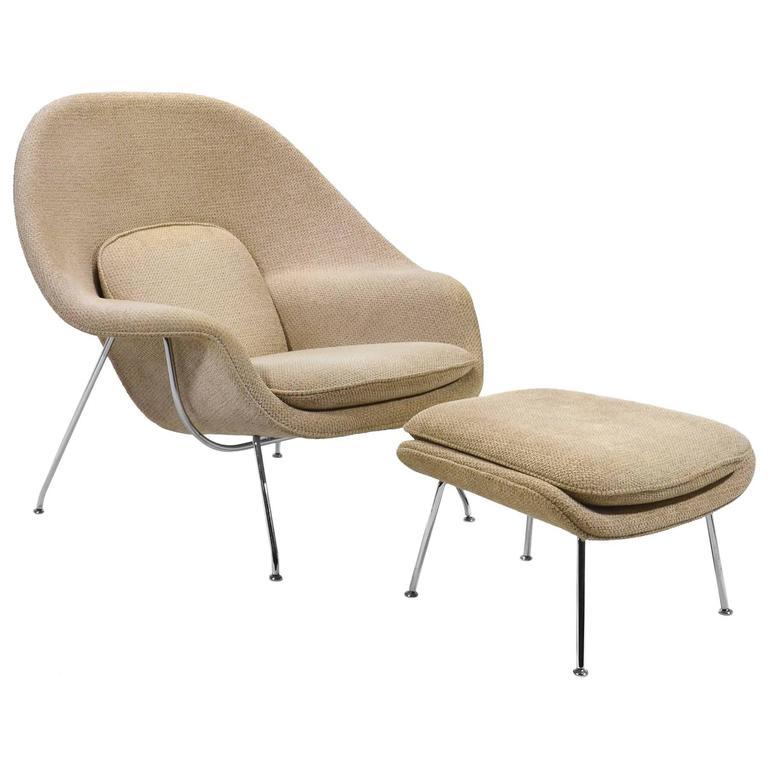 Eero Saarinen Womb Chair and Ottoman by Knoll 1