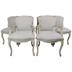 Set of Ten French Louis XV Style Dining Chairs