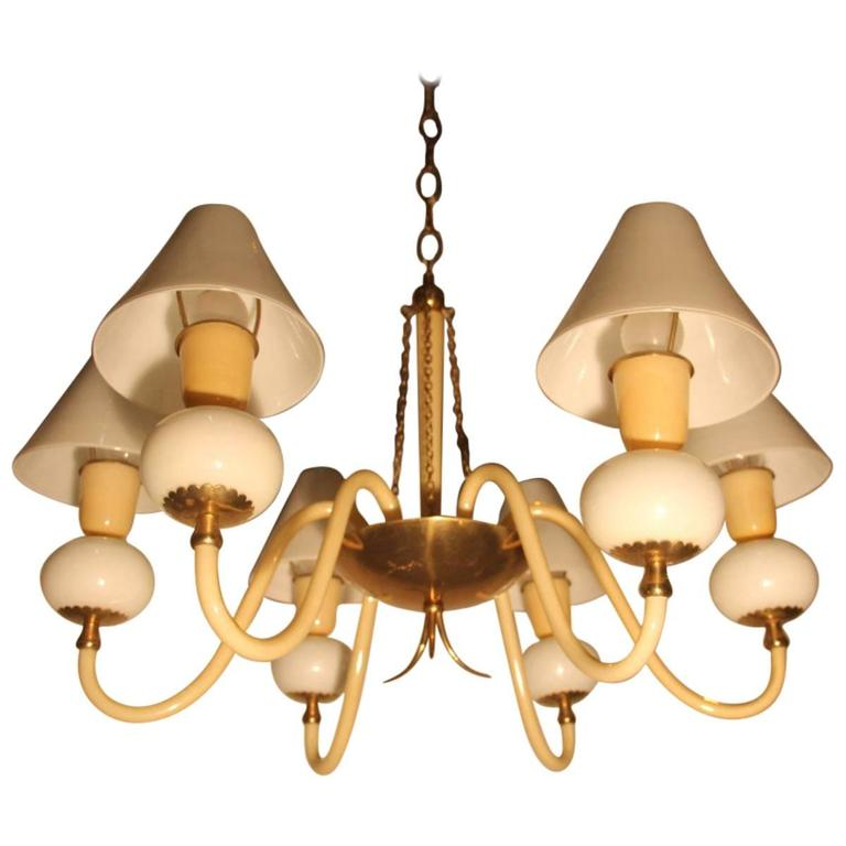Elegant Refined Chandelier Murano Glass Art Very Special, 1940s