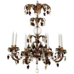 18th Century Style Genoese Chandelier, late 20th Century