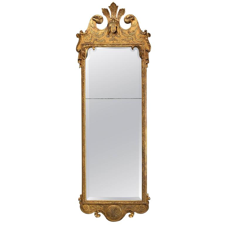 Early 18th Century George I Giltwood & Pier Mirror, in the Manner of J Belchier