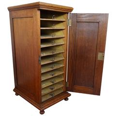 Early 20th Century 11 Drawers Oak Filing Cabinet Unique and Highly Practical