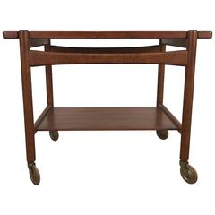 Hans Wegner Bar, Serving Cart, Removable Tray, Made in Denmark Andreas Tuck