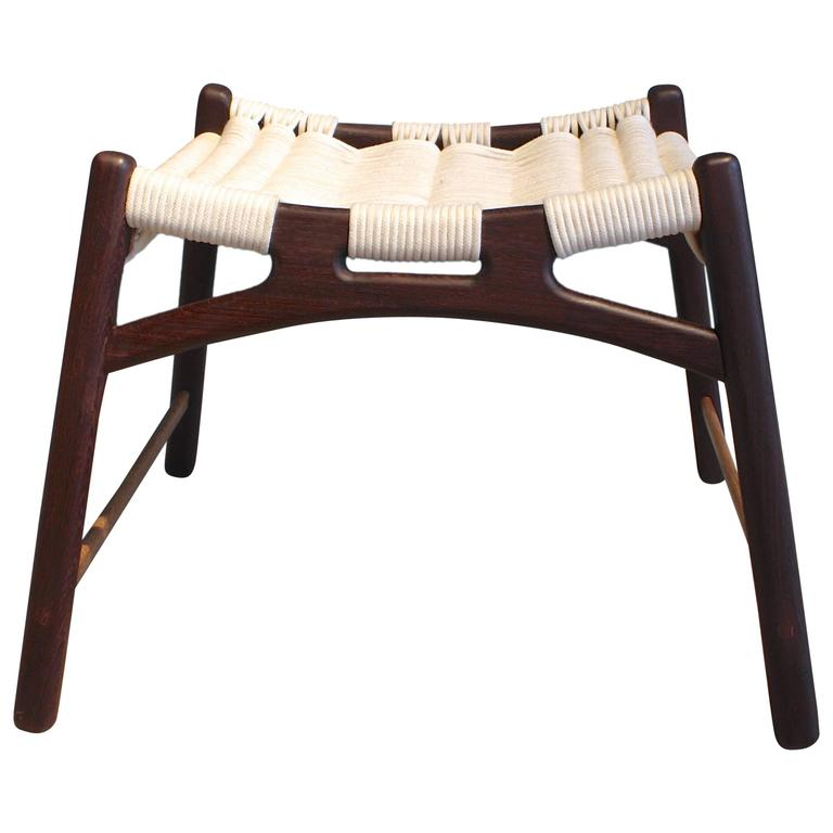 Four Wrought Iron Frame Bamboo With Upholstered Seat Bar