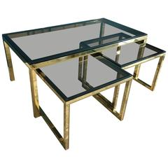 Set of Nesting Tables in the Style of Maison Charles