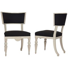 Pair of Swedish Klismos Chairs