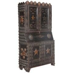 Tramp Art Secretary Bookcase