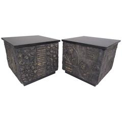 Pair of Adrian Pearsall Brutalist Side Tables