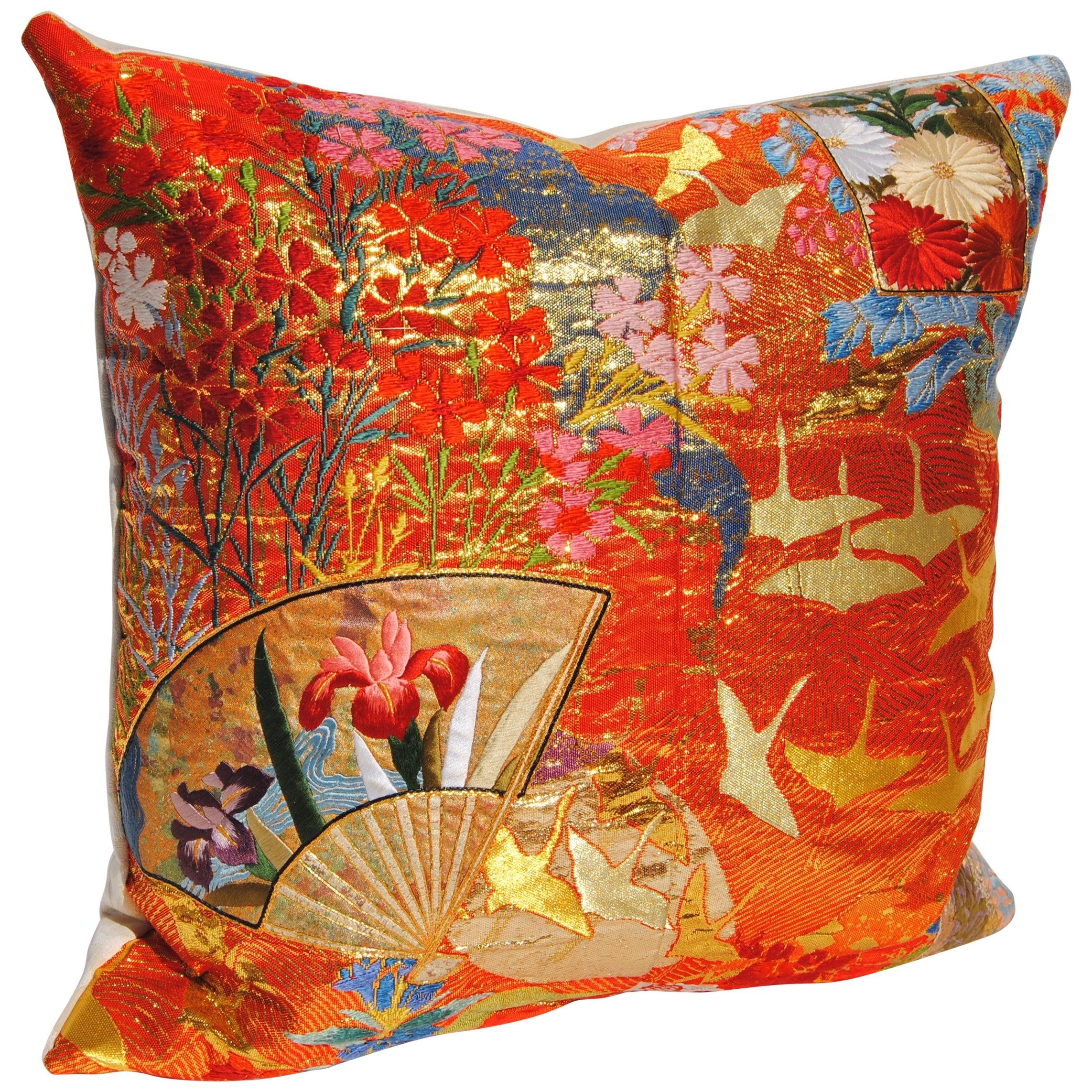 Custom Pillow Cut From A Japanese Vintage Silk Uchikake Wedding