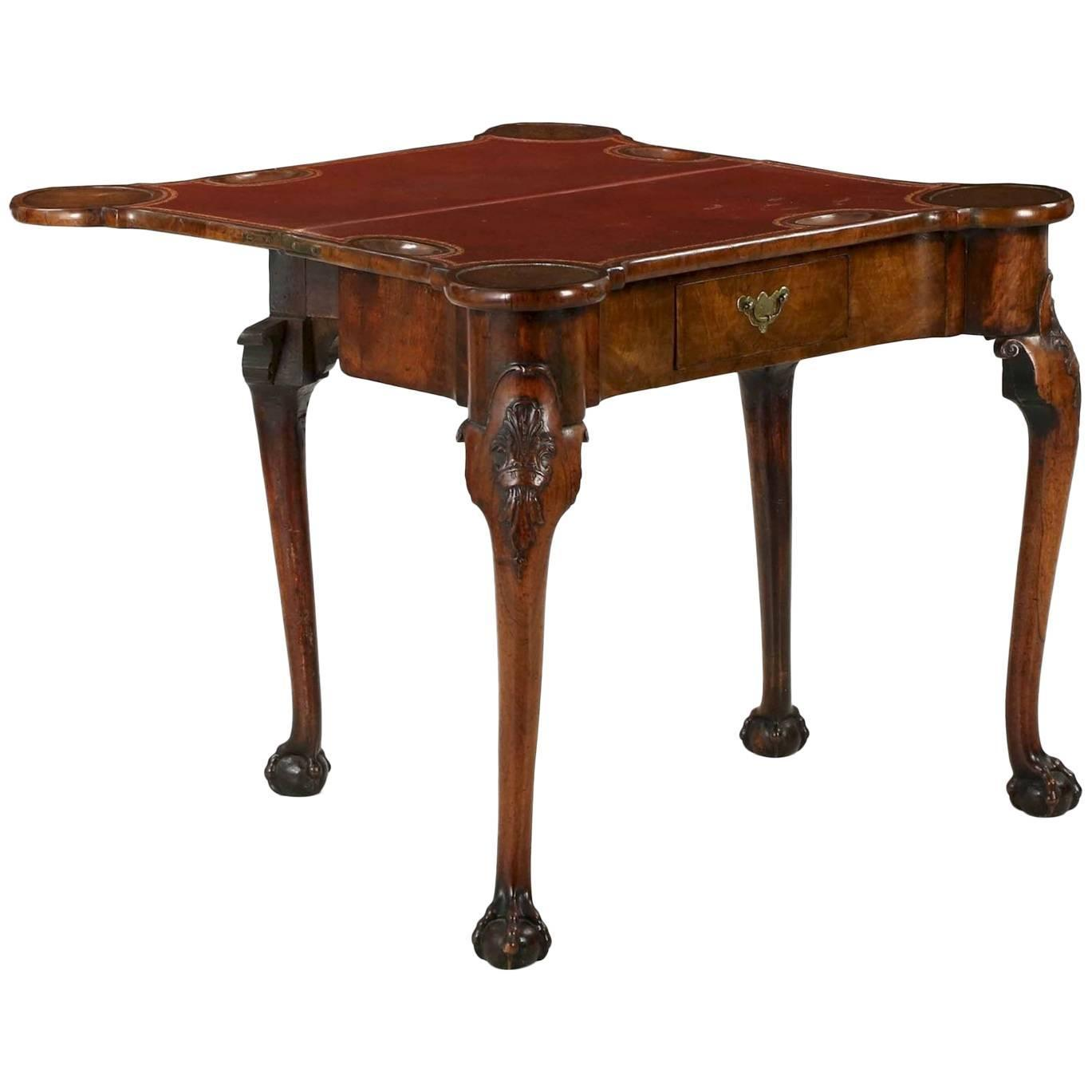 George Ii Carved Walnut Ball And Claw Card Table Circa 1750