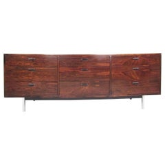 Mid Century Rosewood Nine-Drawer Dresser by Founders