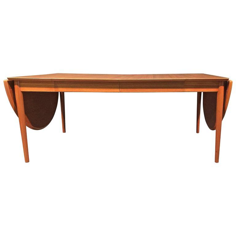 Teak arne vodder large drop leaf dining table for sale at for Large drop leaf dining room tables
