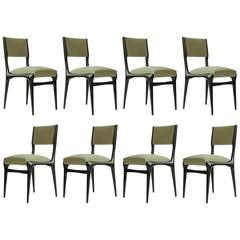 Carlo de Carli Set of Eight Organic Dining Chairs for Cassina