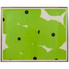 Large Silkscreen by Donald Sultan Titled Ten Greens
