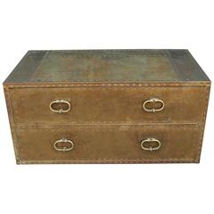 Sarried Hollywood Regency Brass Campaign Chest