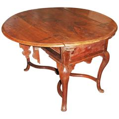 19th Century Walnut Drop Leaf Table