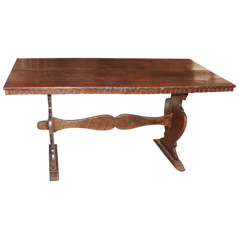 18th Century Walnut Refectory Table