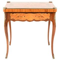 Antique Inlaid Louis XV-Style Games Table, circa 1920