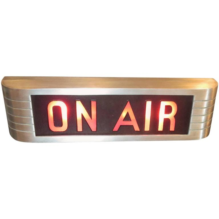 """RCA Victor """"On Air"""" Lighted Recording Sign For Sale"""