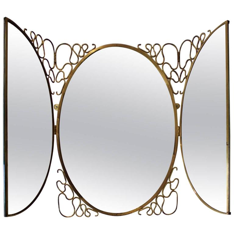 Italian Folding Mirror, 1950s