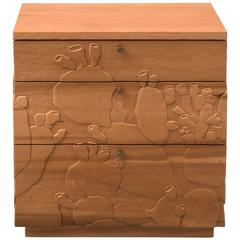 Happy's Curios Three-Drawer Side Table in Poplar by Emily Henry