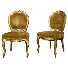 Pair of Rococo Revival Giltwood Side Chairs