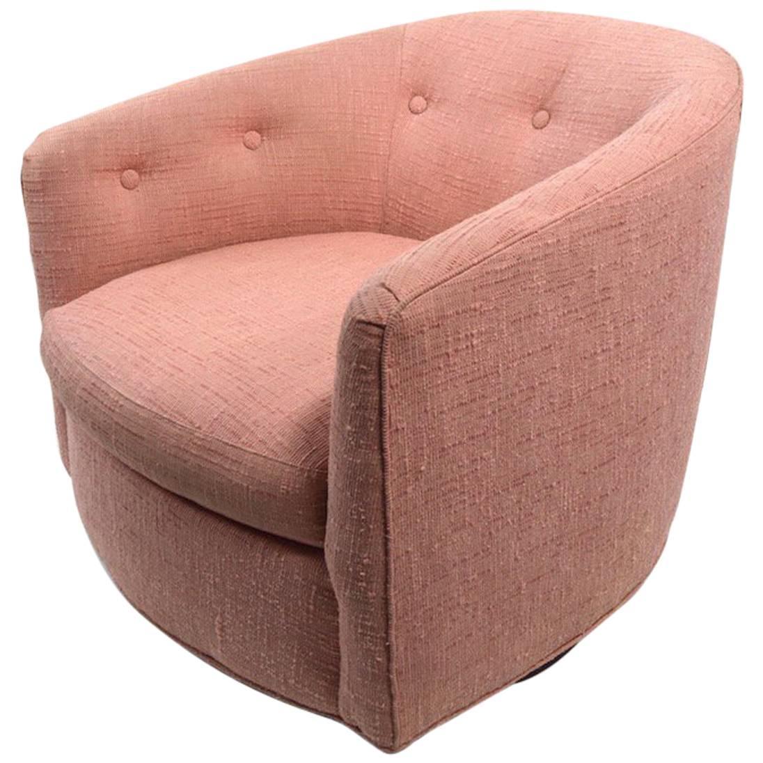Oversized round swivel lounge chair mid century modern at 1stdibs - Mid Century Fredrik Kayser Swivel Lounge Chair Swivel Tub Chair Attributed To Baughman