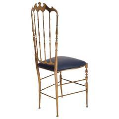 Mid Century Modern Chiavari Italian Brass Chair