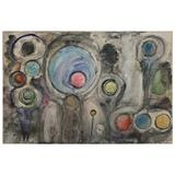 Modern Abstract Painting, Titled New Born, Oil on Canvas by D.Raphael Failla