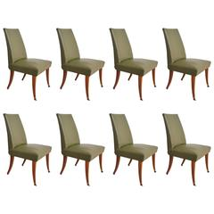 Set of Eight Mahogany Dining Chairs, after Arturo Pani