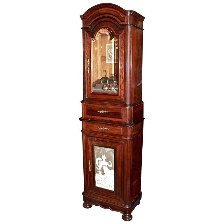 Early 20th Century Music Box in Rosewood Cabinet