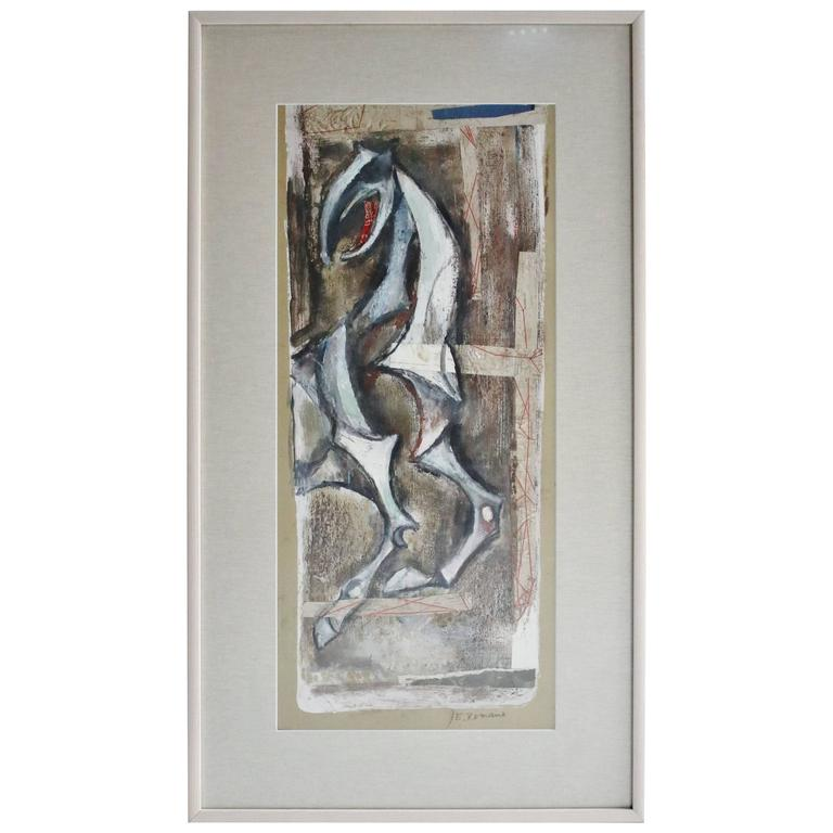 Emanuel Romano Glicenstein Painting, Signed and Framed For Sale at ...