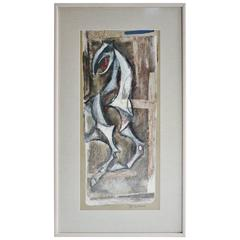 Emanuel Glicenstein Romano Painting, Signed and Framed