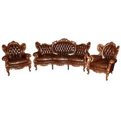 20th Century French Rococo Three-Piece Parlour Set
